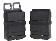 Fast Mag Holster MOLLE system Airsoft 5.56 Dual Mag Pouch Set Black (HOL-002A)
