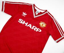 MANCHESTER UNITED 1986-88 HOME SHIRT, DAVENPORTSTAPLETON, WHITESIDE, S M L XL
