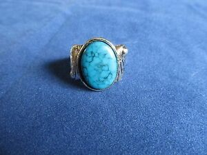 Mens Boys Unisex Blue Coral Fashion Ring Assorted Sz