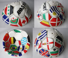 RARE VINTAGE 80'S GREEK FOOTBALL SOCCER BALL WORLD FLAGS NEW FOR DISPLAY !