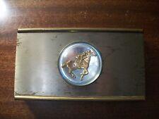 Metal race horse trinket jewelry box gift vintage thoroughbred decor