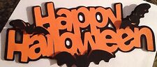 Halloween Happy Halloween And Bats Word Title Die Cut Handmade With Card stock