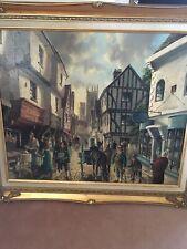 R J MITCHELL London Historic Cityscape Original Canvas Oil Painting