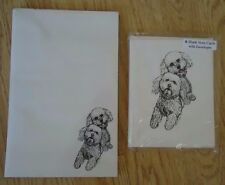 Bichon Frise 2 Piece Set-Notepad,6 Blank Notecards and Envelopes New