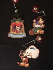 New listing Lot of 3 Vintage PerJinkities Walt Disney Mickey Mouse Christmas Tree Ornaments