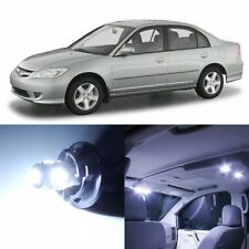 8 x Xenon White Interior LED Lights Package For 2001- 2005 Honda Civic +TOOL