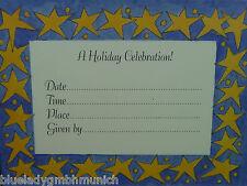 Karten 10er/Kuverts Einladung ★ Blue Star ★ Kuvert  KARTE Cards & Envelopes