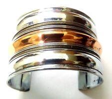 Copper Silver Oxidized Cuff Bracelet Charms Kada Wristlet Band Bangle Jewelry 45