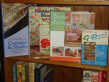 Lot of 3 HC/DJ 1PB Home Decoration Books Curtains Shades Furniture Ideas