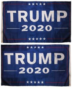 12x18 Trump 2020 Blue 150D Woven Poly Nylon Double Sided 2ply Boat Flag Banner