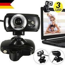 USB Livecam Full HD USB 50.0M Webcam Videokamera mit Mikrofon 3 LED für PC Skype