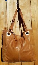 LARGE FOSSIL HATHAWAY HONEY BROWN LEATHER TOTE CARRYALL SHOULDER BAG
