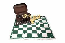 Professional Tournament Chess. Brown Case. Weight: 2.64 Lb. Brown - Beige