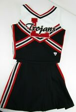 """TROJANS High School Cheerleader Uniform Outfit Choose Sz 28-34"""" Top 24-26 Skirt"""