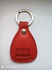 JEEP New Keychain car key genuine leather with  logo Handmade