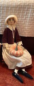 Gallerie ii Joe Spencer Prudence Pilgrim Art Doll Gathered Traditions