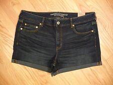 Womens NEW American Eagle Mid Rise Boy Midi Super Stretch Denim Jean Shorts 16