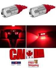 2x T10 194 168 10SMD 4W 5630 Red LED Projector Signal Light Bulbs Car