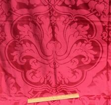 Antique 19thC French Victorian Lyon Silk Home Dec Textile Fabric~Stunning Red