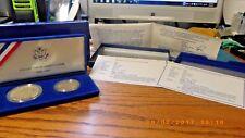 1986 S U.S.Liberty Ellis Island 2 Coin  Proof Set SILVER Dollar Clad Half Dollar