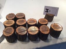 12  Rustic Wooden Table Numbers Card Holders Real Sassafras Rounds Party Tree