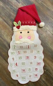 Pottery Barn Kids Christmas Santa Face Advent Countdown Calendar No Monogram Euc