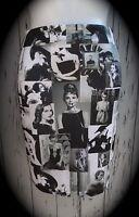 Black & White Hollywood Glamour Pencil Skirt - Size 8 10 12 14 - Audrey Hepburn