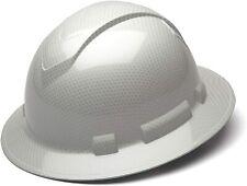 Carbon Fiber Hard Hat Full Ratchet Suspension Construction Helmets White