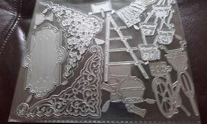 Metal Cutting Dies, Arrangement Maker / Pots, Bike - fits with carnation crafts