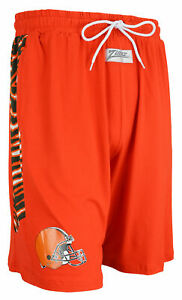 Zubaz NFL Men's Cleveland Browns Team Logo Zebra Side Seam Shorts, Orange