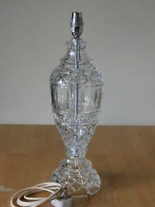 Stunning Tall Heavy Crystal Lamp - Ex Cond