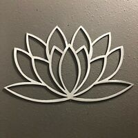 Lotus Flower Metal Wall Art Decor Skilwerx 12 x 7 Floral