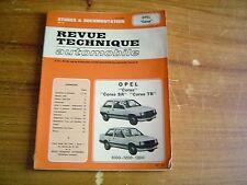 REVUE TECHNIQUE RTA OPEL CORSA / CORSA SR / CORSA TR....1000 - 1200 - 1300