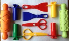Playdough Dough Play Doh Tools Accessories - 10 quality tools. 2 Children
