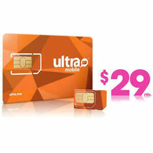 1st Month Pre-Loaded Ultra Mobile SIM Card with $29 Plan, 6GB Services included