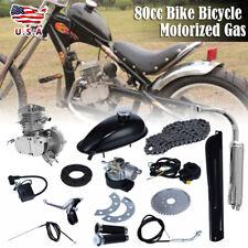 80cc Bike Bicycle Motorized 2 Stroke Petrol Gas Motor Engine Kit Set Sliver USD