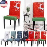 Christmas Stretch Dining Room Chair Covers Removable Stool Seat Cover Slipcovers