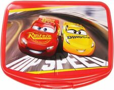 Disney CARS McQueen Lunch Box School Sandwich Plastic Case Holder Container