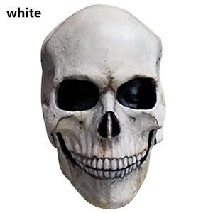 Halloween Full Head Skull Mask/helmet With Movable Jaw 3d Skeleton Horror Mask