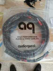 AUDIOQUEST CV 8 Speaker Cable  series 300 silver speaker bananas plugs (3 meter)