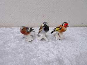 3X Goebel Porcelana Diseño Figura Pájaro - Konvolut Sammlung