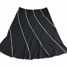 Joseph Ribkoff Womens Jupe Skirt Assymetrical Gored Black Pull On Stretch Sz 6