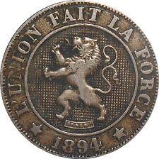 Belgium Belgique 10 Centimes 1894 KM#42 Léopold II French Text (3185)