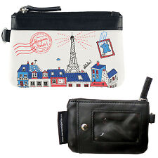 PORTE MONNAIE PARIS BLEU POUR FEMME TICKET METRO BUS BADGE DLP DERRIERE LA PORTE