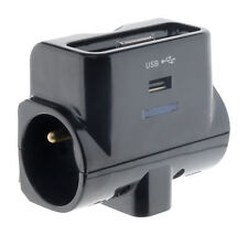 Triplite 6A+2x 16A +1 USB + 1 dock charge IPhone noir gloss - Otio