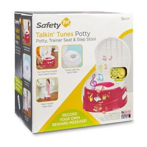 Safety 1st Talkin' Tunes 3-in-1 Potty Trainer Green And White