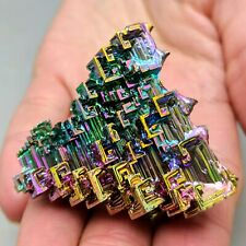 GEMCORE: One (1) Lg Rainbow Bismuth Crystal Display Mineral Crafts Education