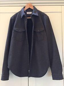 Barbour Grey Fleece Lined Shacket Shirt/ Jacket Medium