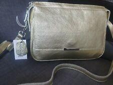 Gold leather cross body/shoulder bag