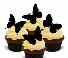 Butterfly Silhouettes Edible Cup Cake Toppers, Standup Fairy Bun Decorations